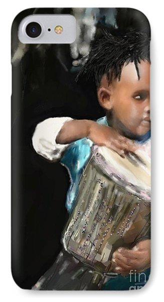 African Drummer Boy IPhone Case by Vannetta Ferguson