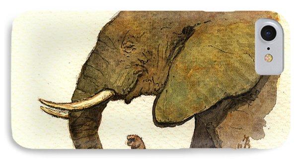 African Elephant Head IPhone Case by Juan  Bosco