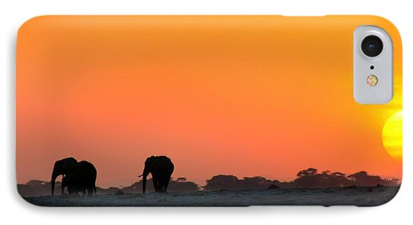 IPhone Case featuring the photograph African Elephant Sunset by Amanda Stadther