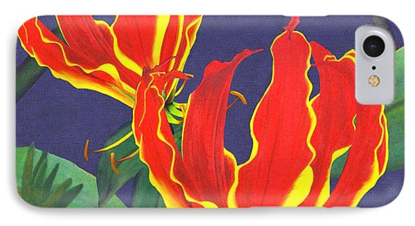 African Flame Lily Phone Case by Sylvie Heasman