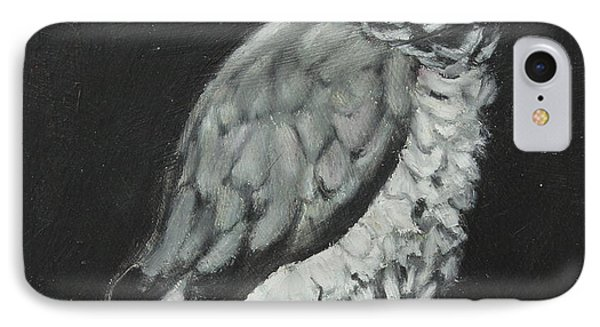 IPhone Case featuring the painting African Grey by Jeanne Fischer