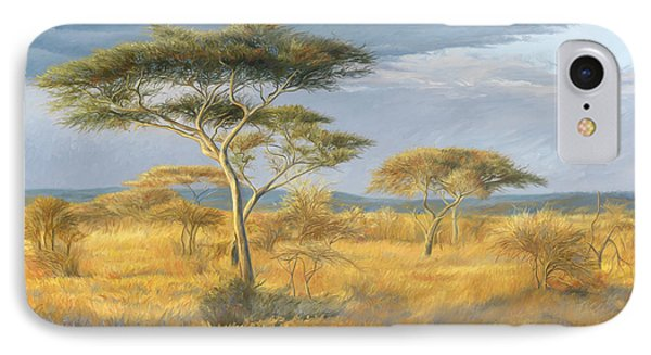 African Landscape IPhone Case by Lucie Bilodeau