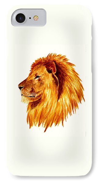 African Male Lion Phone Case by Michael Vigliotti