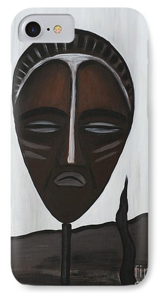 African Mask II Phone Case by Eva-Maria Becker