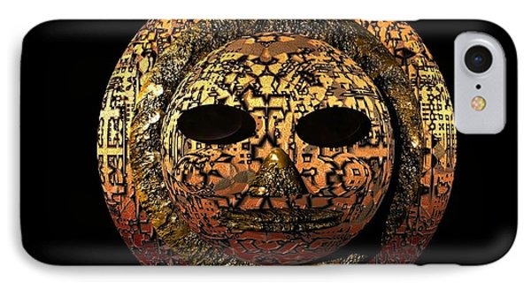 IPhone Case featuring the digital art African Mask Series 1 by Jacqueline Lloyd