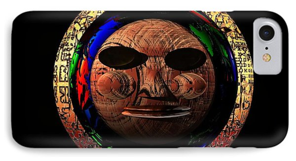 IPhone Case featuring the digital art African Mask Series 2 by Jacqueline Lloyd