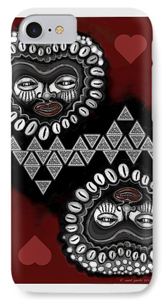 African Queen-of-hearts Card IPhone Case by Carol Jacobs