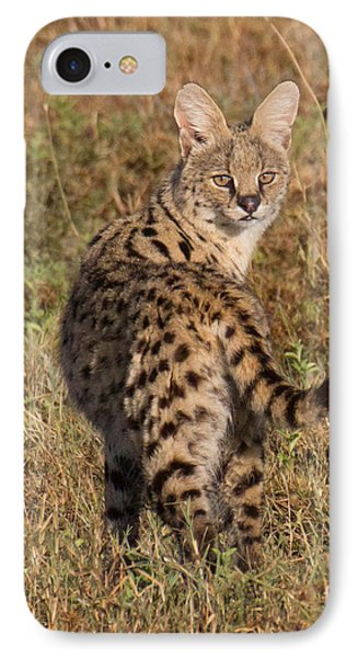 IPhone Case featuring the photograph African Serval Cat 1 by Chris Scroggins