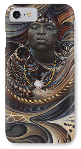 African Spirits I Phone Case by Ricardo Chavez-Mendez