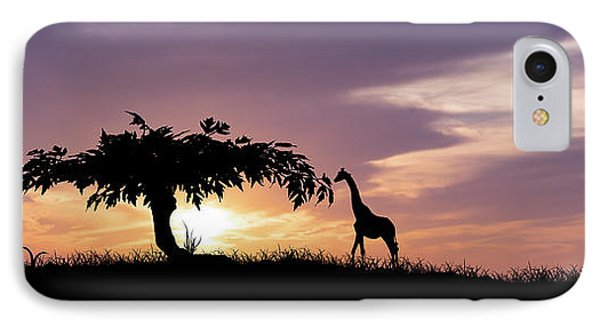 African Sunset IPhone Case by Aged Pixel