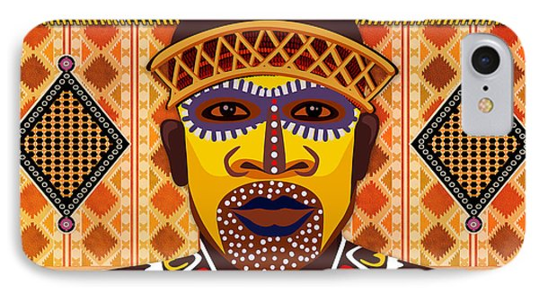 African Tribesman 2 Phone Case by Peter Awax