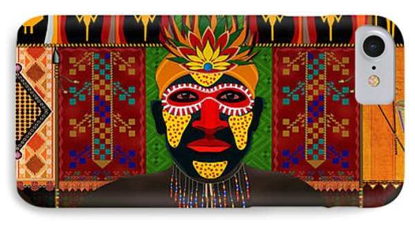 African Tribesmen Phone Case by Bedros Awak