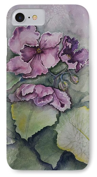 African Violets Phone Case by Rebecca Matthews