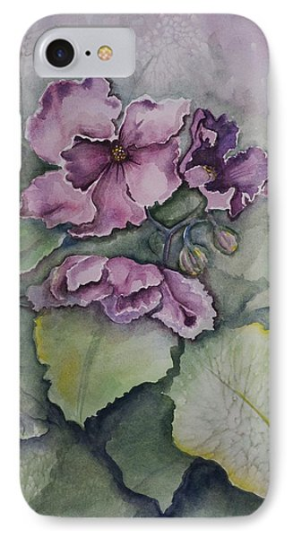 African Violets IPhone Case by Rebecca Matthews