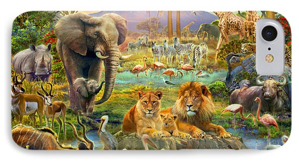 African Watering Hole IPhone Case