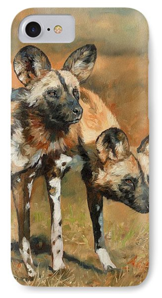 African Wild Dogs IPhone Case by David Stribbling