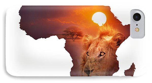 African Wildlife Map Phone Case by Johan Swanepoel