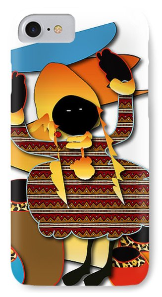 IPhone Case featuring the digital art African Worker by Marvin Blaine