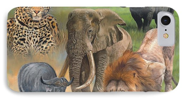 Africa's Big Five IPhone Case by David Stribbling