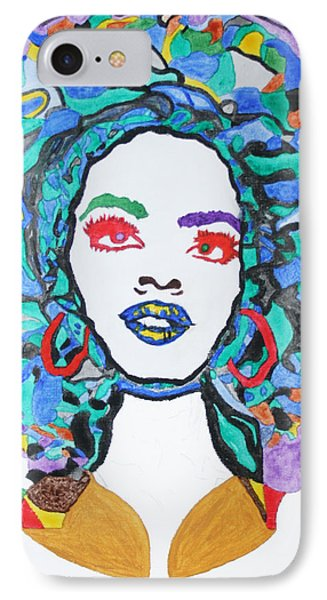 Afro Lauryn Hill  IPhone Case by Stormm Bradshaw