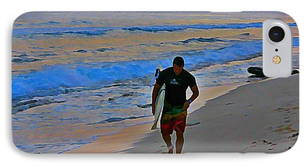 After A Long Day Of Surfing Phone Case by John Malone