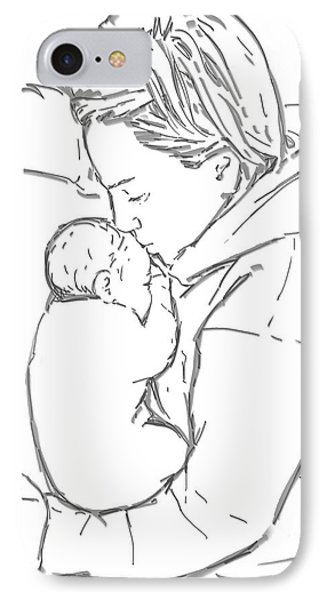 IPhone Case featuring the drawing After A Long Journey by Olimpia - Hinamatsuri Barbu