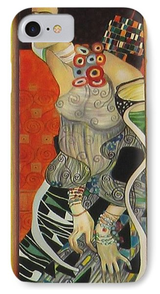 After Gustav Klimt IPhone Case by Sylvia Kula