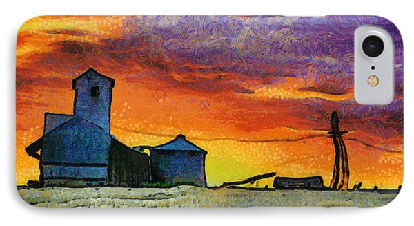 After Harvest - Digital Painting IPhone Case by Mark Kiver