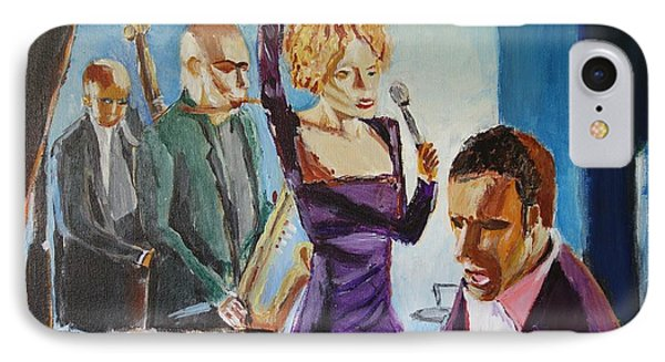 IPhone Case featuring the painting After Hours by Judy Kay