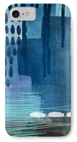 After Rain- Contemporary Abstract Painting  IPhone Case by Linda Woods