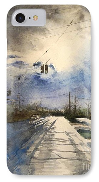 After Rain -on The Michigan Ave. Saline Michigan IPhone Case