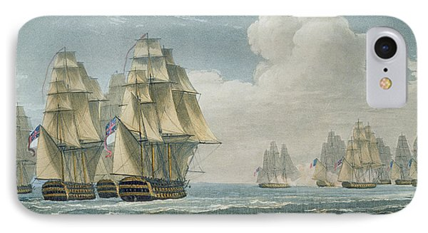 After The Battle Of Trafalgar IPhone Case by Thomas Whitcombe