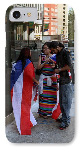 IPhone Case featuring the photograph After The Puerto Rican Day Parade by Dorin Adrian Berbier