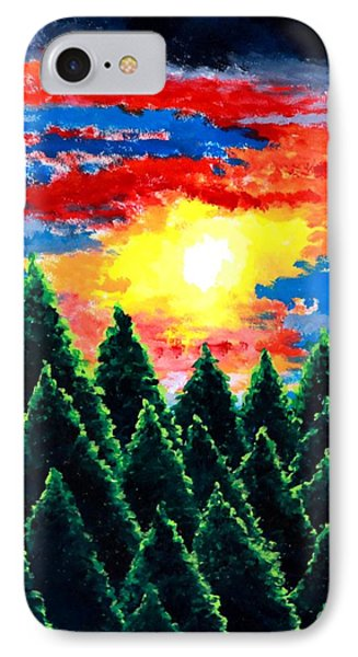 IPhone Case featuring the painting After The Rain by Thomas Gronowski
