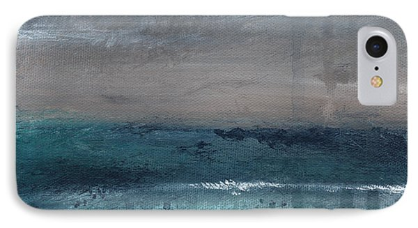 After The Storm- Abstract Beach Landscape Phone Case by Linda Woods
