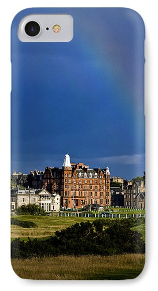 IPhone Case featuring the photograph After The Storm At St. Andrews Golf Old Course Scotland by Sally Ross