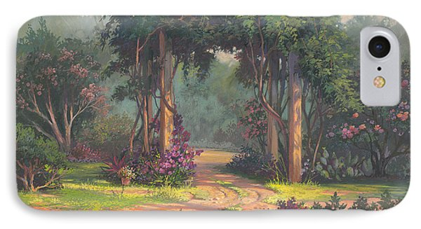 IPhone Case featuring the painting Afternoon Arbor by Michael Humphries