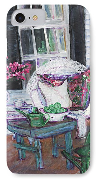 Afternoon At Emmaline's Front Porch IPhone Case by Helena Bebirian