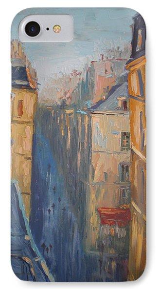 Afternoon In Rue Leopold Bellan Phone Case by NatikArt Creations