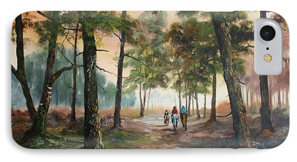 Afternoon Ride Through The Forest IPhone Case by Jean Walker