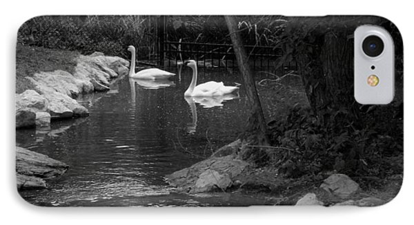 IPhone Case featuring the photograph Afternoon Swim Bw by Elizabeth  Sullivan