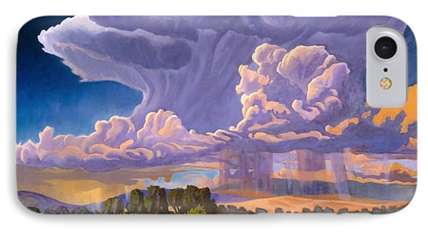 IPhone Case featuring the painting Afternoon Thunder by Art James West