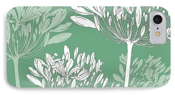 Agapanthus Breeze IPhone Case by Sarah Hough