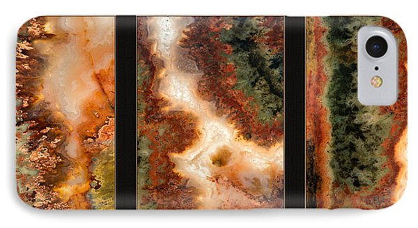 Agate Triptych 1 IPhone Case by Leland D Howard