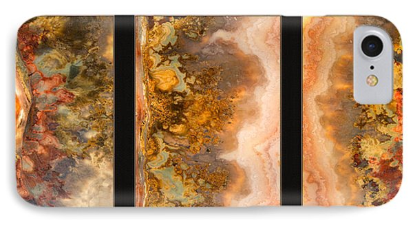 Agate Triptych 2 IPhone Case by Leland D Howard