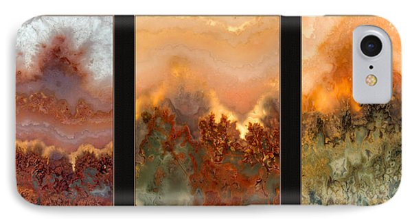 Agate Triptych 3 IPhone Case by Leland D Howard