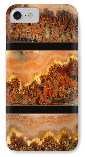 Agate Triptych 4 IPhone Case by Leland D Howard