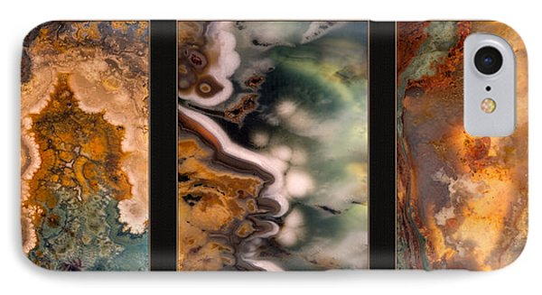 Agate Triptych 5 IPhone Case by Leland D Howard
