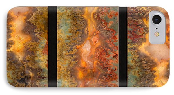 Agate Triptych 6 IPhone Case by Leland D Howard