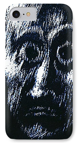 IPhone Case featuring the drawing Age Of Fear Of Age  by Hartmut Jager